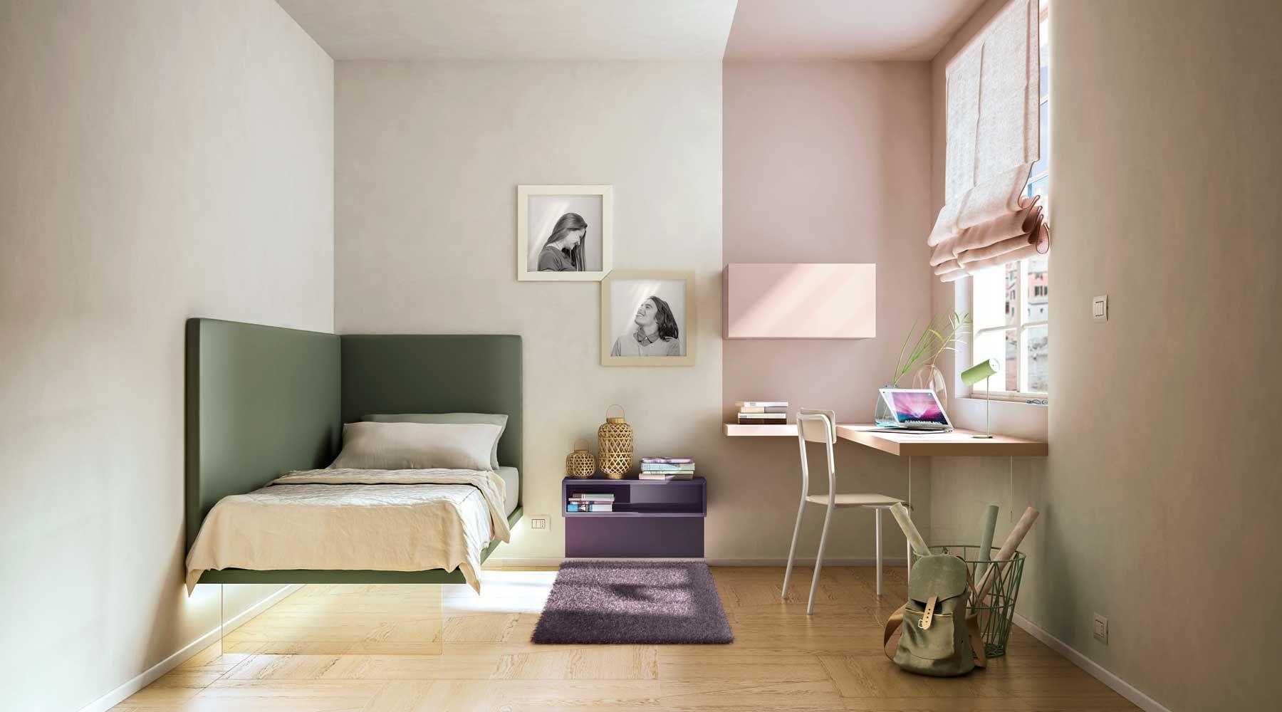 Una cama de esquina perfecta para amueblar habitaciones