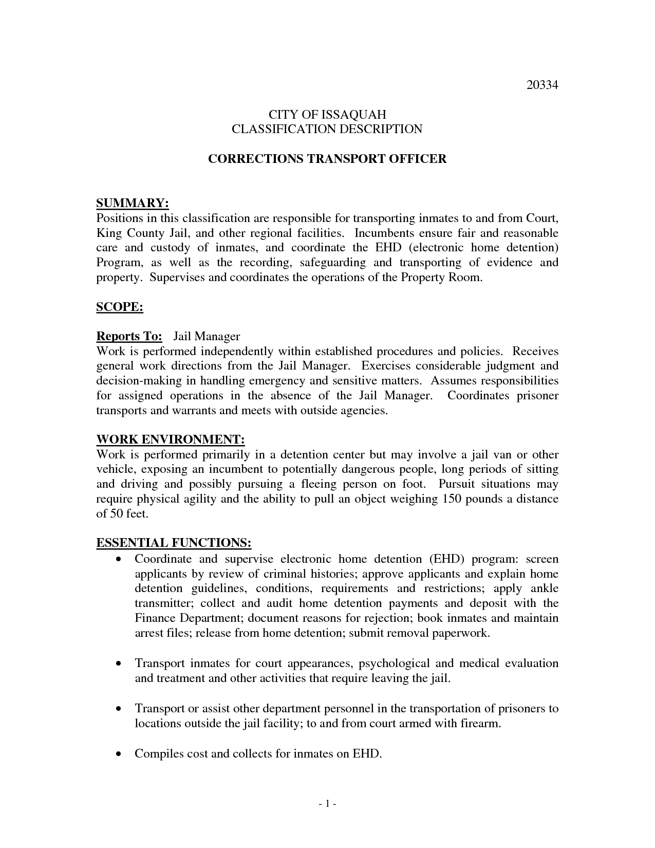 Sample Resume For Police Officer With No Experience Correctional Officer Resume No Experience Http Www