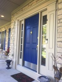 Front exterior door Sherwin Williams Duration Paint Blue ...