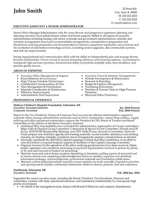Resume Examples For Office Manager