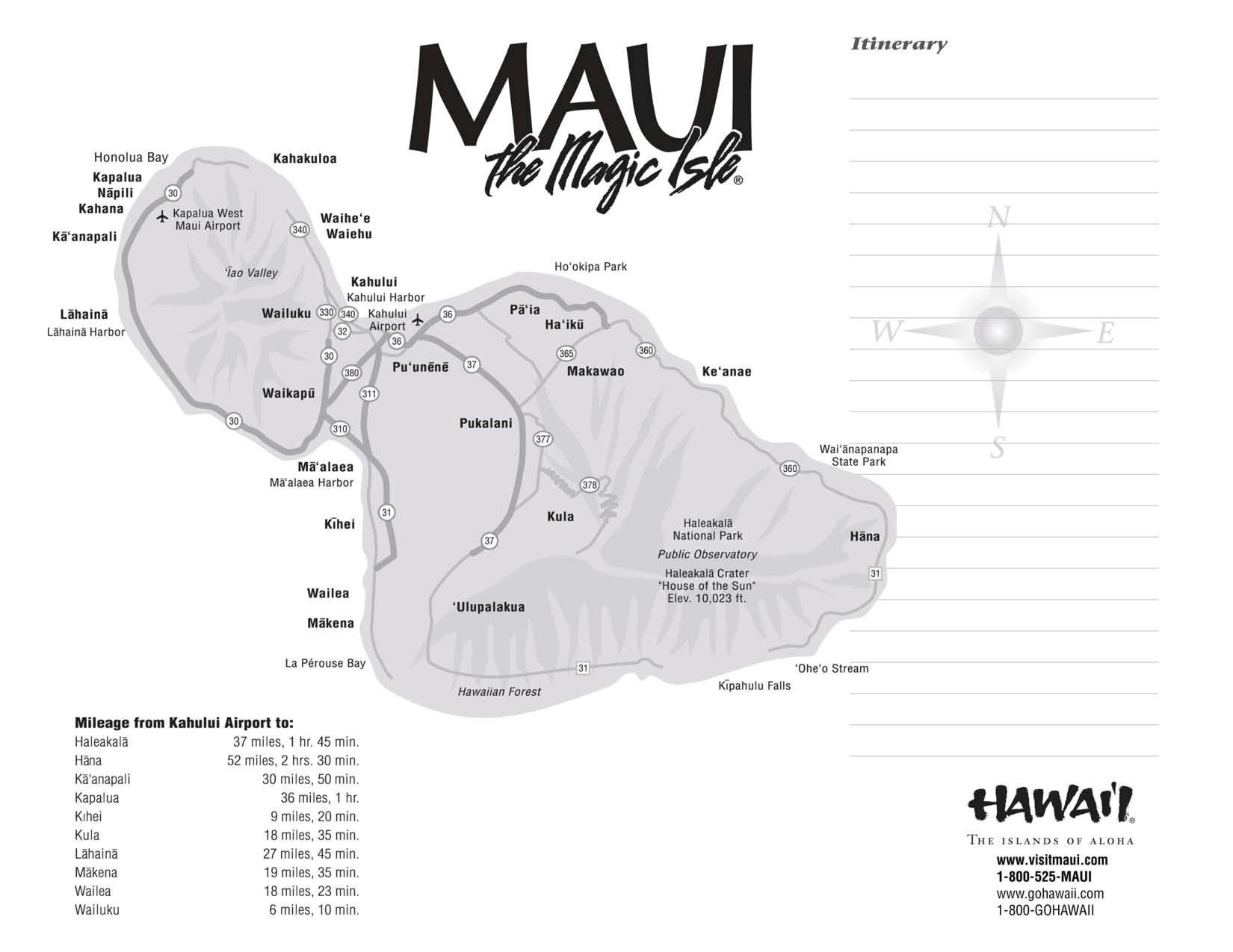 Maui Maps Printable