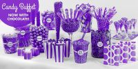 shades of purple Baby Shower Candy Station | Purple Candy ...