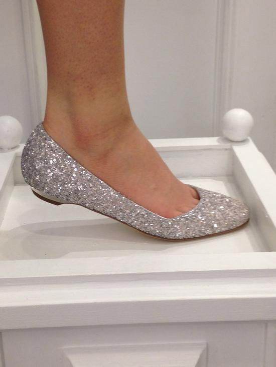 Silver Bridesmaid Flats