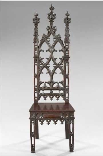 gothic chairs chair retains the pierced stiles on this chair are