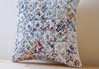 Recycled paper art pillows stories | Green World ...