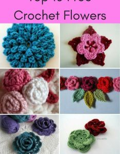 Crochet flowers are so quick and easy to make they  re perfect for beginners here the top free flower patterns try out also ten all in one place find rh pinterest