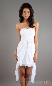 Short Strapless White Dress, Summer Dresses, Grad Dress ...