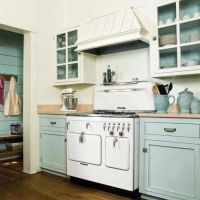 Kitchen Cabinet Painting Ideas With Combination Color Mint ...