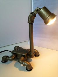 Dino an industrial dinosaur themed lamp by ICHomeDesigns ...