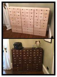 IKEA hack! Before and after , apothecary drawers | DIY ...