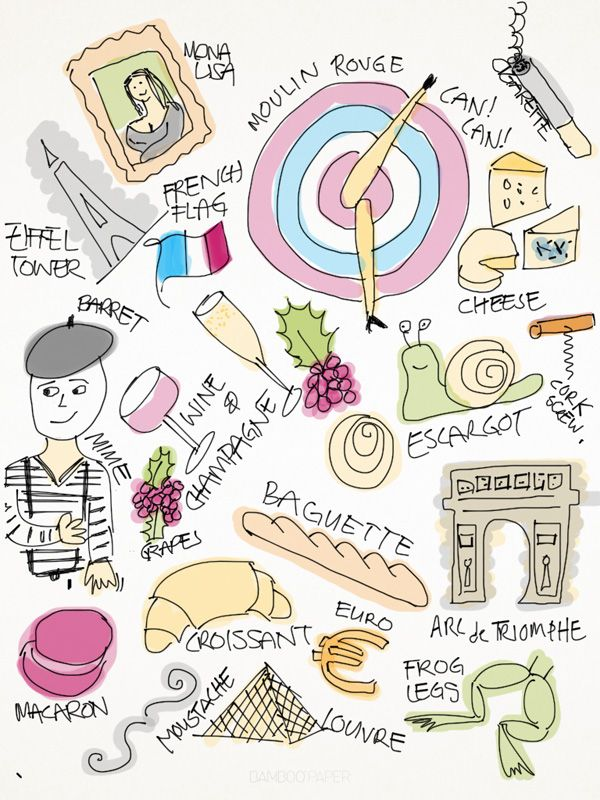 Traditional French Food Coloring Pages