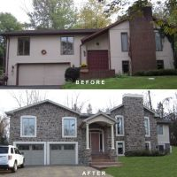 bi-level exterior remodeling | Bi-level exterior make-over ...