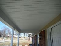 New custom porch ceiling built out of vinyl soffit ...