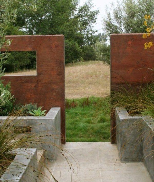 gartenabtrennung ideen sichtschutz zaun weiss stadthaus, Garten und erstellen