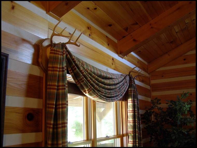 Deer Antler Curtain Rod Holders Google Search Dream House