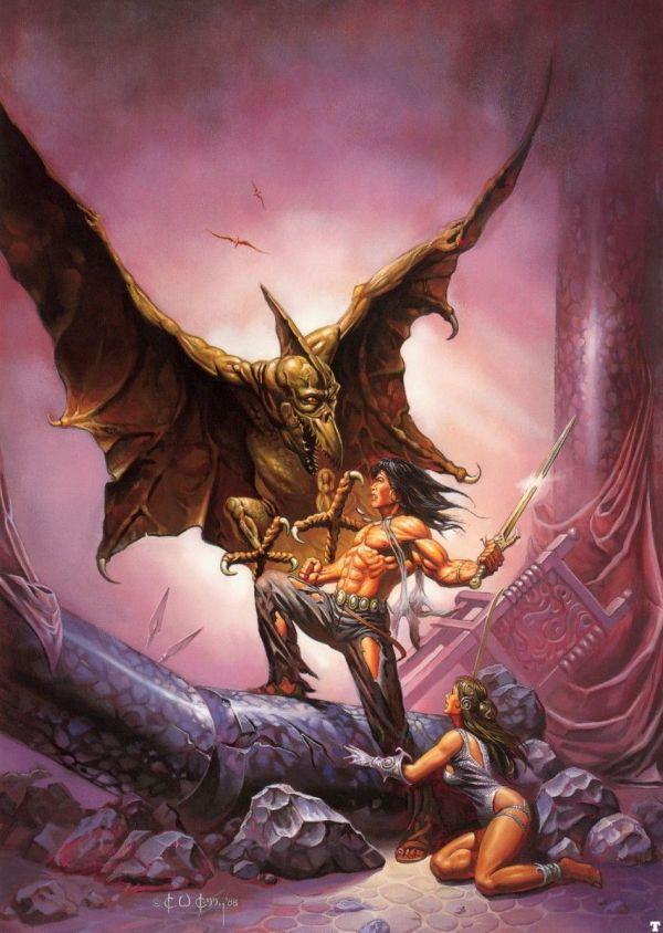 Ken Kelly - Conan Bold John Maddox Roberts 1989 Tor Books School Fantasy 2