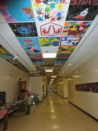 Image result for painted ceiling tiles in schools | mural ...
