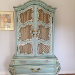 Vintage Bedroom Chair Ebay Office Non Rolling Exquisite Blue Rococo Semi Antique Suite