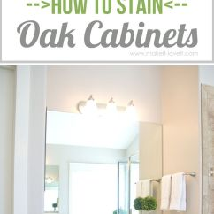 Sanding And Restaining Kitchen Cabinets Labels How To Stain Oak Cabinets...the Simple Method (no ...