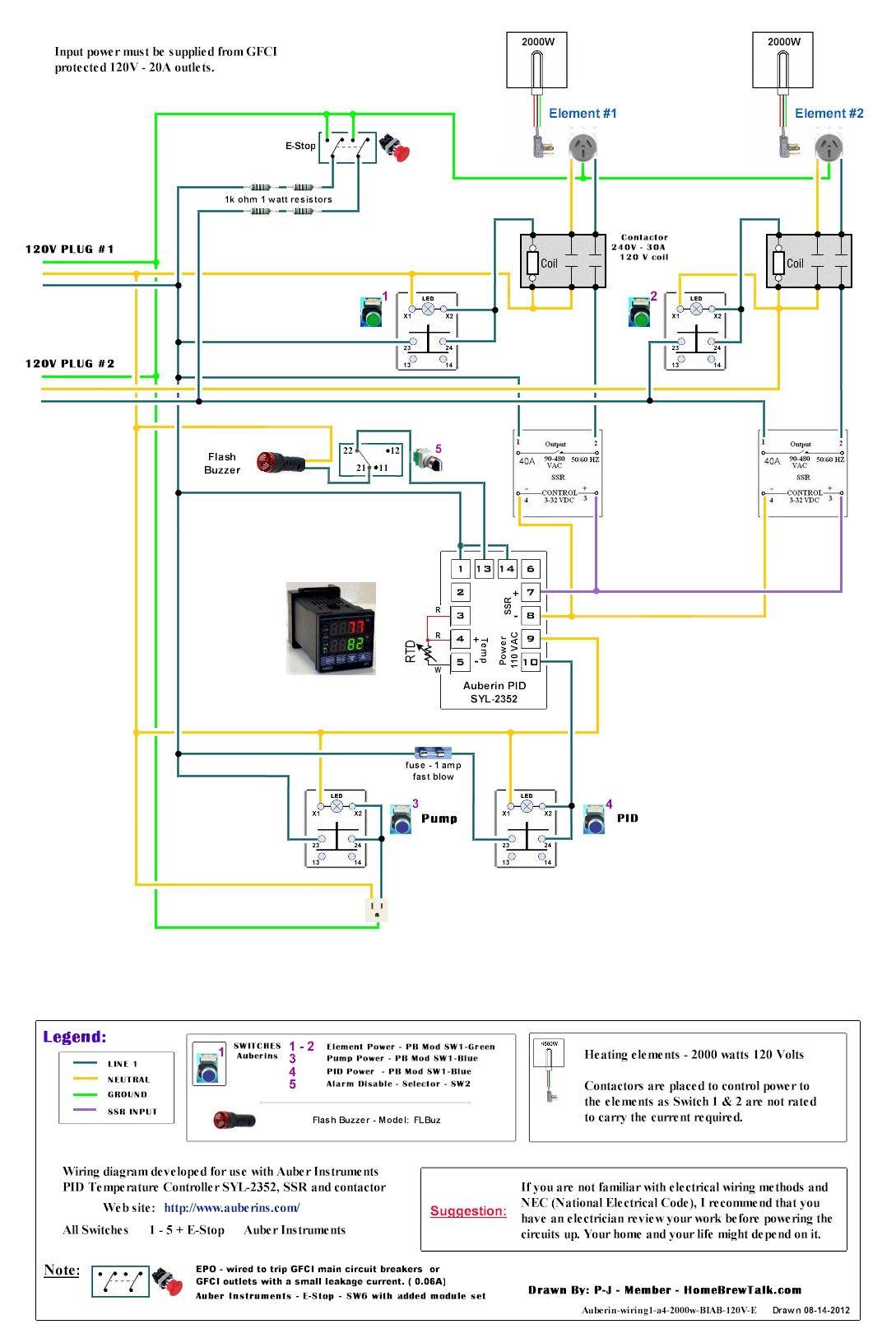 120v wiring diagram 7 way rv flat blade dual 2000w recirculating ebiab build home brew