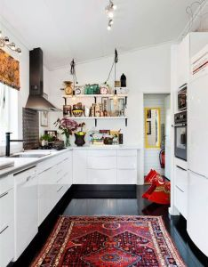 colorful rug in the kitchen home ideas also inside rh pinterest