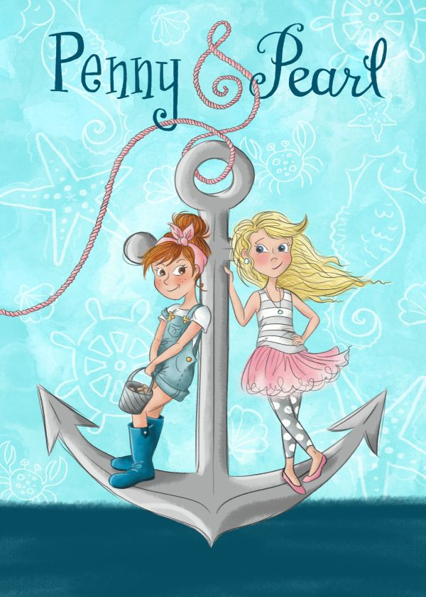 Penny & Pearl Book Cover Design - Written And Illustrated