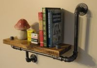Industrial Shelving Pipe Shelf Wood Shelf Made From Local ...