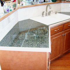 Tiled Kitchen Countertops Eat In Tables Tile Custom Granite