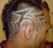 tribal undercut design men