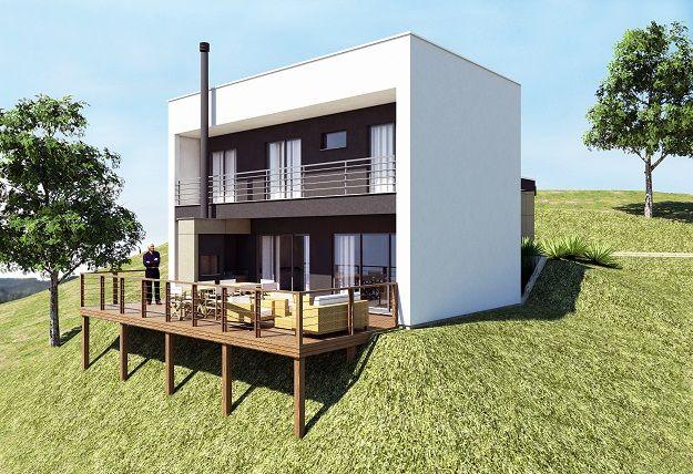 Casa em terreno desnivelado  Arquitetura  Pinterest