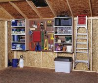 shed organization for storage - keep things off the ground ...