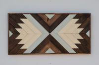 Wood Wall Art - Wooden Wall Art - Geometric Wood Art ...