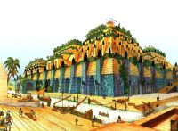 Un disegno ipotetico dei Giardini Pensili di Babilonia | 7 ...