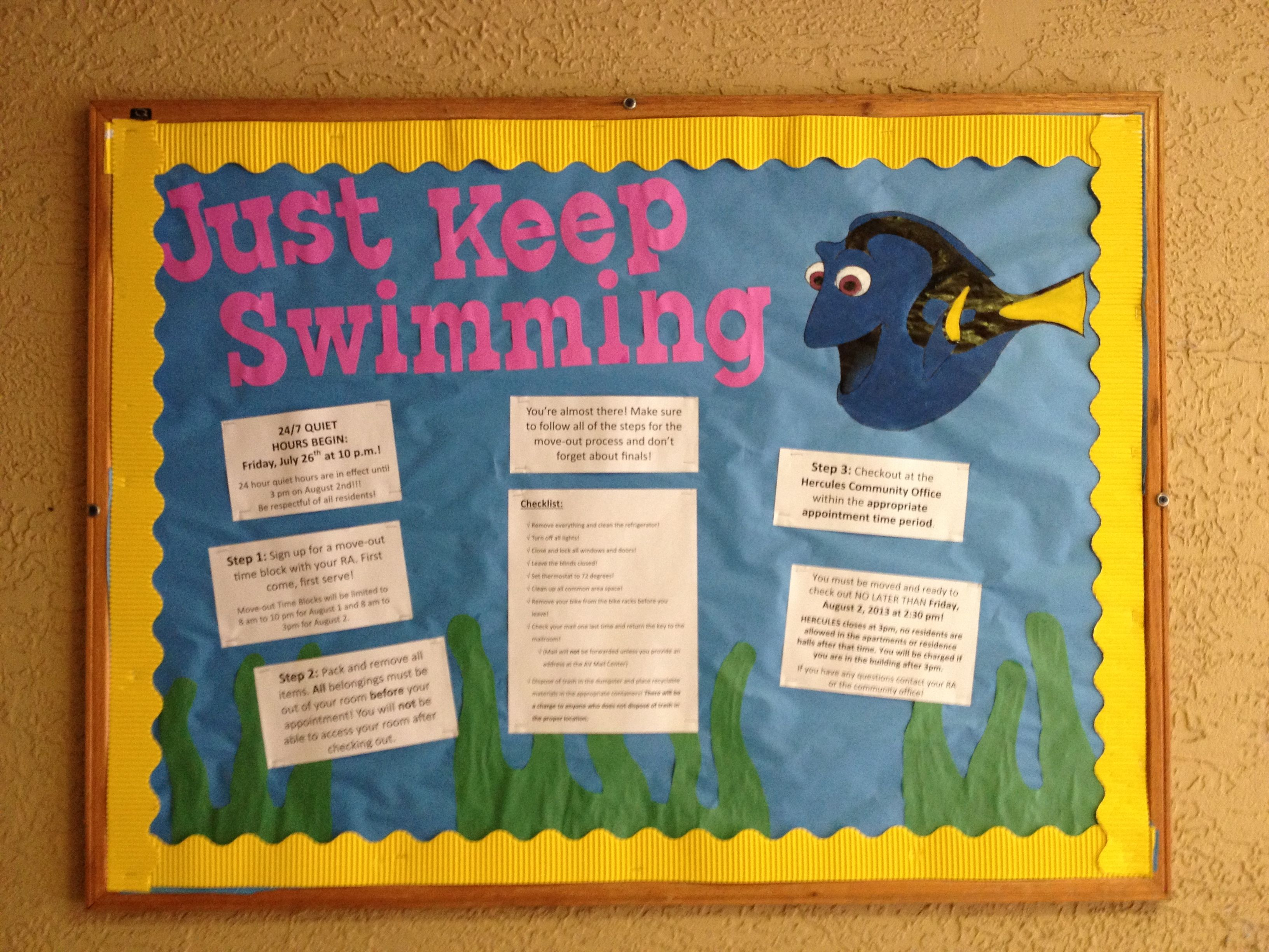 2nd RA bulletin board for move out! (Finding Nemo) It's