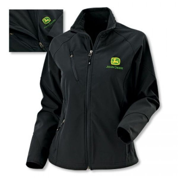 John Deere Ladies Textured Soft Shell Jacket Rungreen