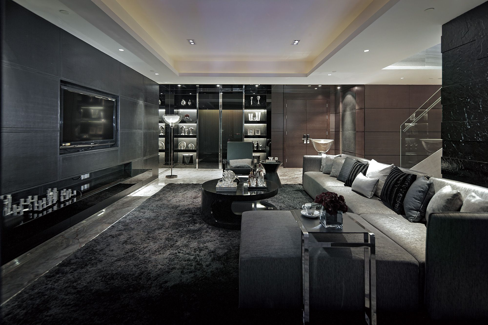living room ideas with dark grey sofas rooms to go blended leather sofa reviews excellent luxurious designs