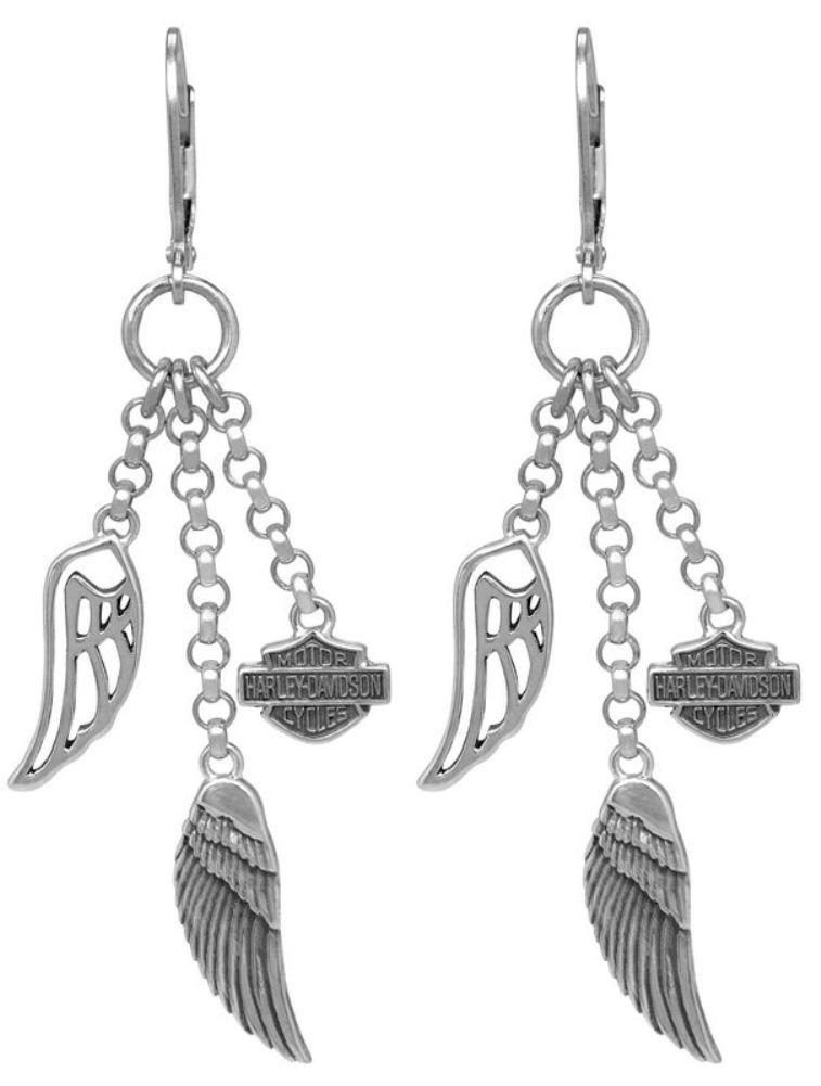 Harley-Davidson® Women's Multi-Wing Dangle Earrings