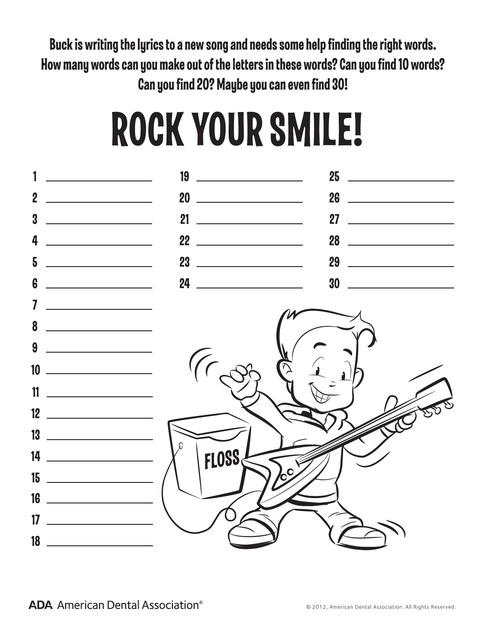 11 Dental Health Activities Puzzle Fun Printable