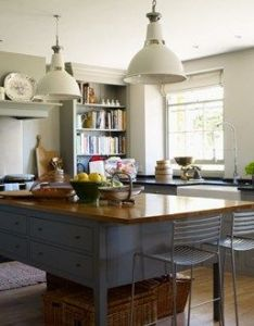 Grey country kitchen from plain english interior design also open plan create and walls rh pinterest