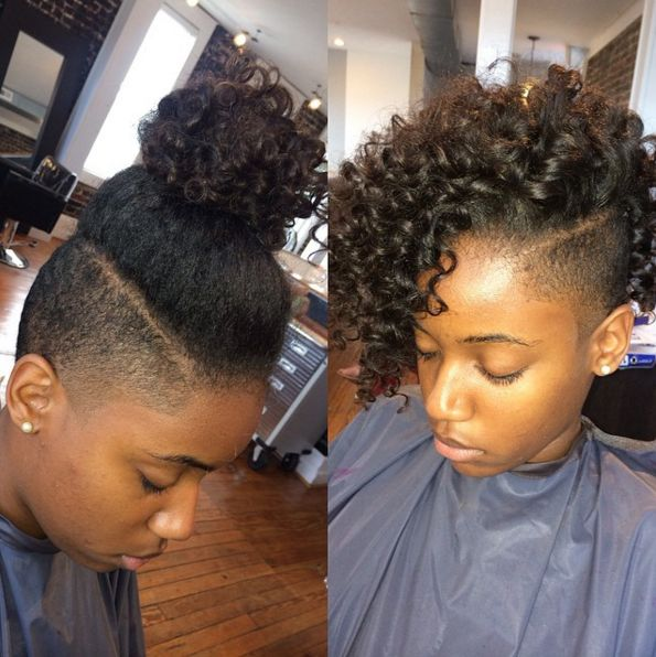 Shaved Sides Hairstyles For Black Hair Google Search Buns And