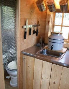 Small space living check out sink idea and compost toilet cool for tiny also rh pinterest