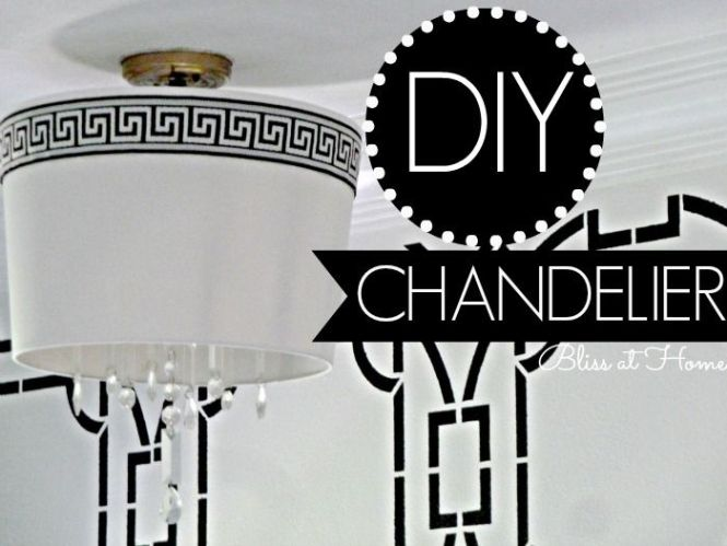 Diy Chandelier With Shade For Under 20