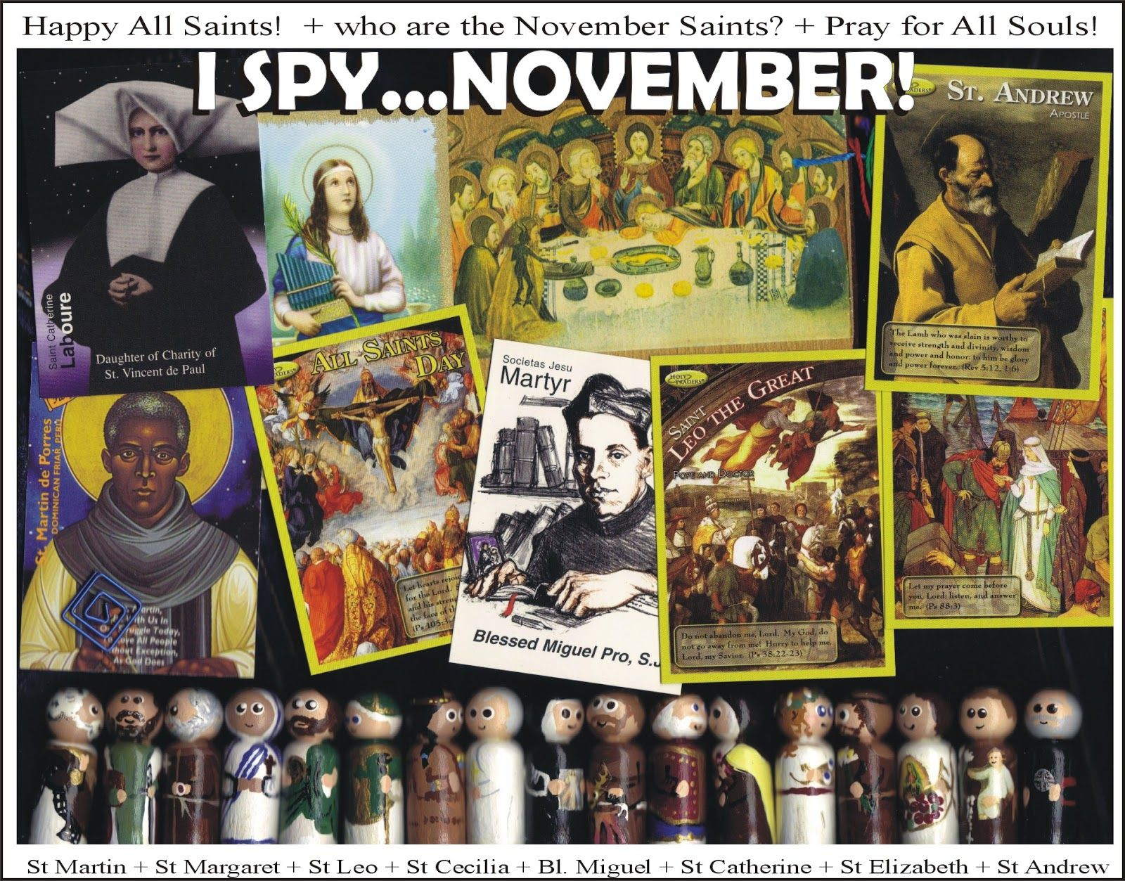 Equipping Catholic Families I Spy L Saints In November Free Monthly Saint Pages Available