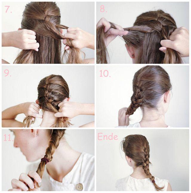 Basis Französischer Zopf Mit Langen Haar Anleitung 2 Hairstyles