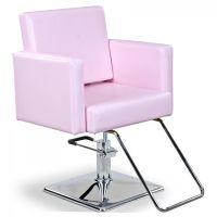 """""""Masina"""" Pink Styling Chair W/ Round Base T-Bar, angle ..."""