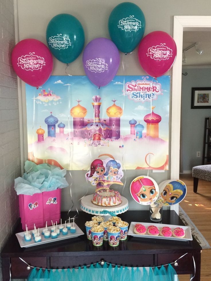Shimmer And Shine Birthday Party Ideas And Supplies Plenty Of
