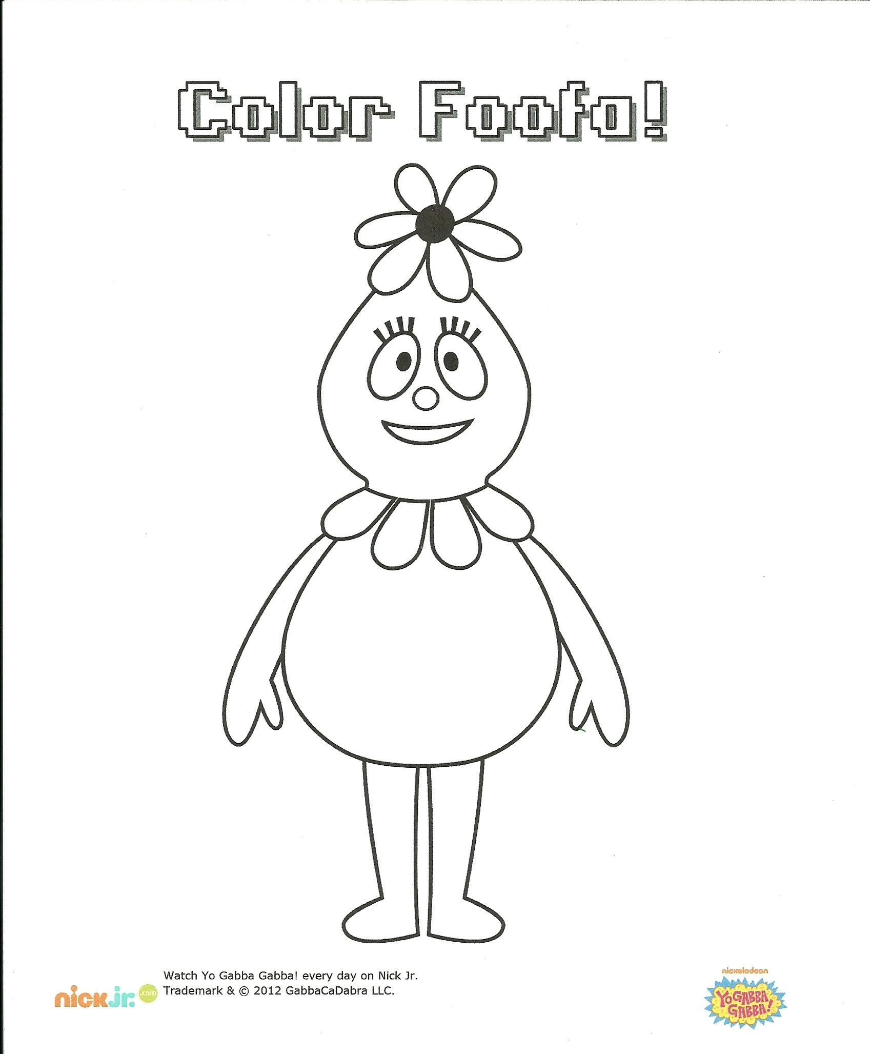 Foofa Coloring Page