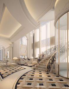 Luxury interior design for an entrance lobby  loungeom moody swaidan also by ions dubai classic pinterest rh