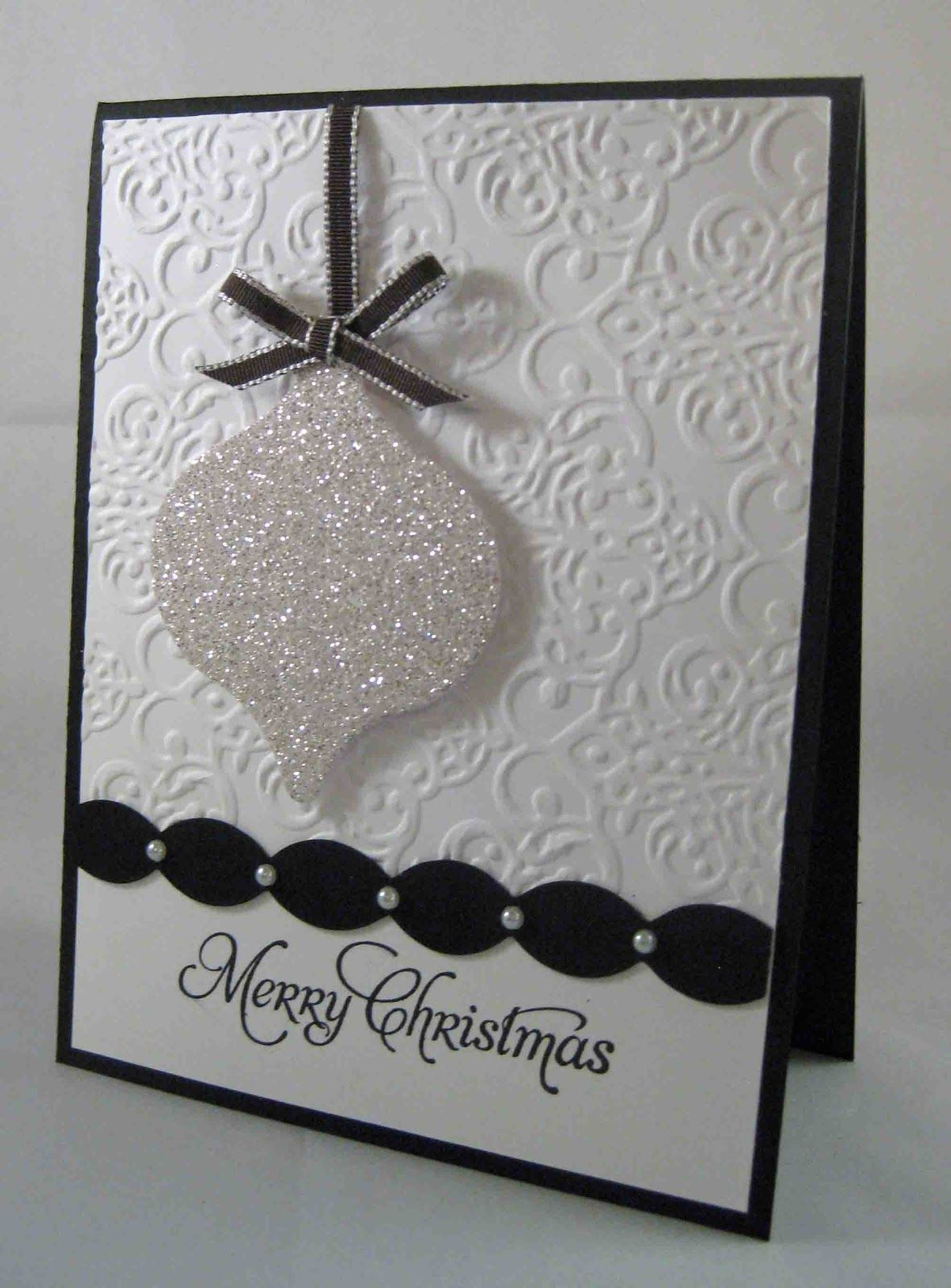 "Stunning Glitter Ornament ""Merry Christmas"" Card Beth"