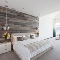 Hoboken Master Bedroom design with reclaimed wood feature ...